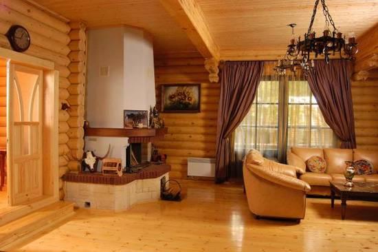 интерьер деревянного