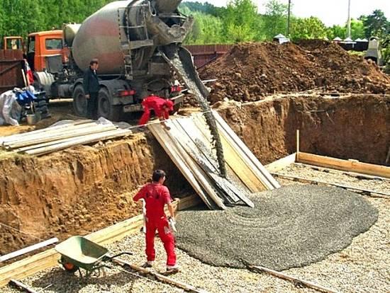 бетонных работ