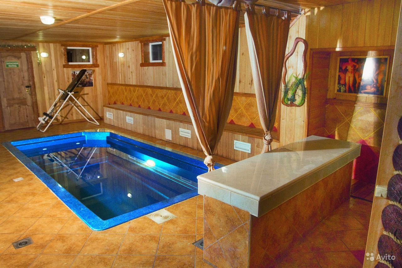 Как построить баню с бассейном