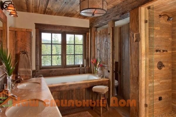 Деревенский декор в ванной комнате — это возможно