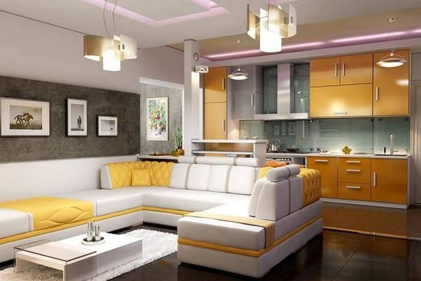 Дизайн кухни гостиной на 30 фото – основные принципы планировки и оформления