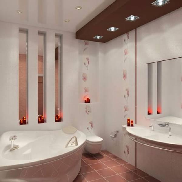Дизайн ванной совмещенной с туалетом: 45 фото оформления пространства