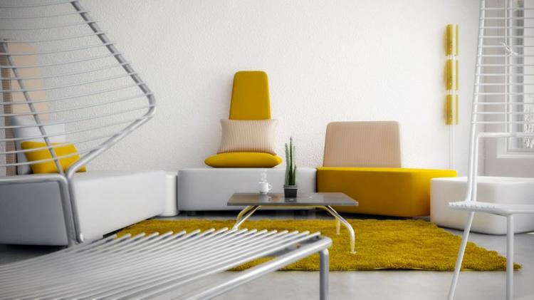 Гостиная в желтых тонах, 22 фото
