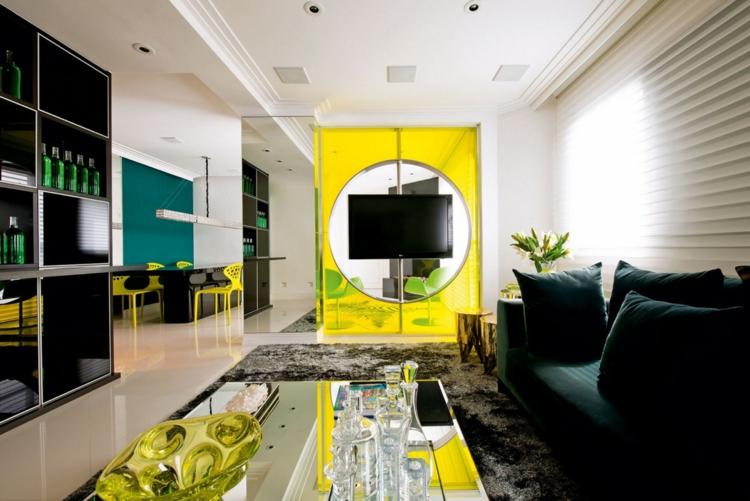 Гостиная в желтых тонах, 27 фото