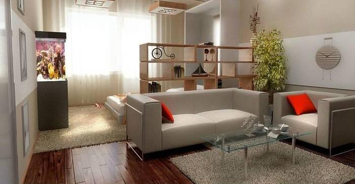 Интерьер однокомнатной квартиры: фото 30 стильных примеров