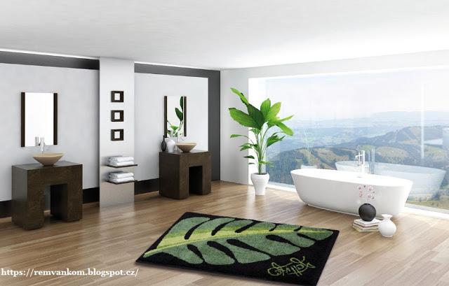 Коврики и шторки моментально изменят вашу ванную комнату