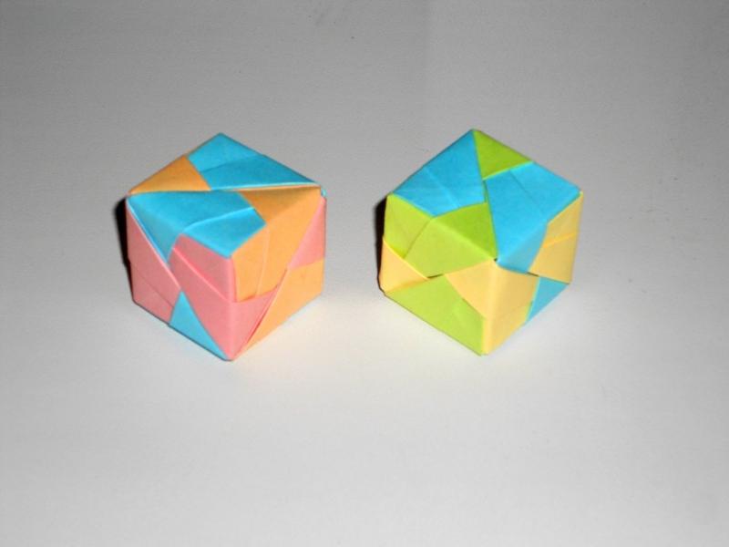 Кубик из бумаги Поделки оригами в фото