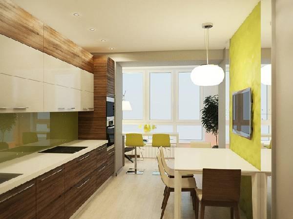 Кухня, совмещенная с балконом: оформление дополнительного пространства на 30 фото