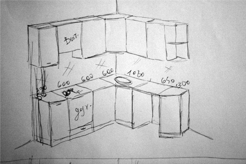 Кухня. Проблемная ситуация (розетки рядом с варочной панелью/газовые трубы врезаны в столешницу)