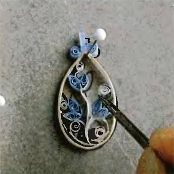 Квиллинг украшения — как сделать овальные сережки своими руками в фото