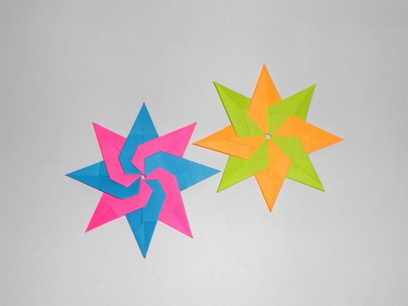 Модульная звезда из бумаги в фото