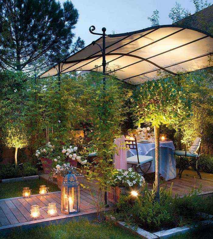 Навесы во дворе частного дома: фото 20 красивых вариантов