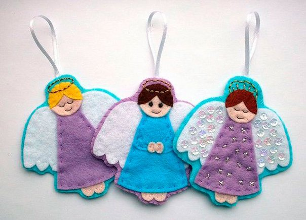 Новогодние игрушки из фетра своими руками: выкройки с фото в фото