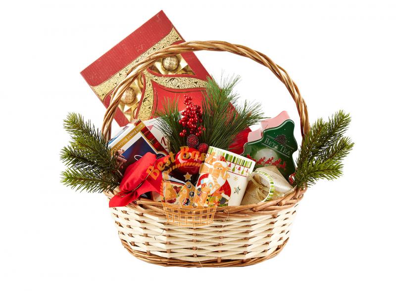 Новогодние корзины своими руками из конфет с фото и видео в фото