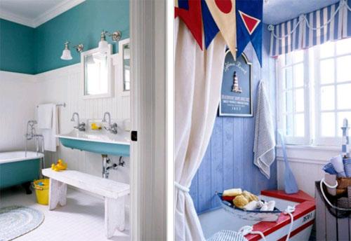 Оформление ванной комнаты для детей в фото
