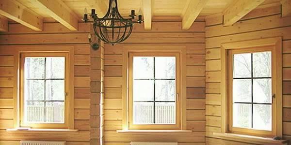 Окна в деревянном доме: виды окон и 33 фото