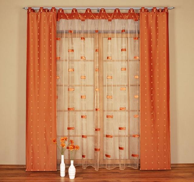 Оранжевый цвет в декоре окон (ч.1)
