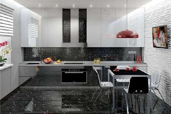 Плитка для кухни на пол – практические советы по выбору и 26 фото