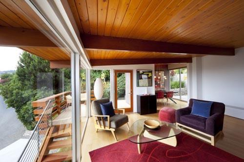 Примеры деревянных потолков в интерьере
