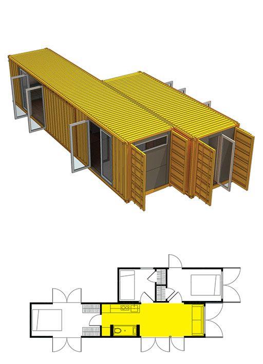 Прочный современный дом из контейнеров