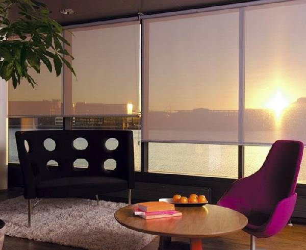 Рулонные шторы на пластиковые окна — 45 фото красивых вариантов