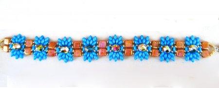 Схема плетения из бисера браслета «Azul» в фото