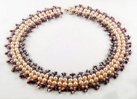 Схема плетения из бисера ожерелья «Anetta» в фото