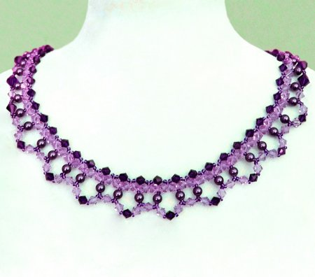 Схема плетения из бисера ожерелья «Fatima» в фото