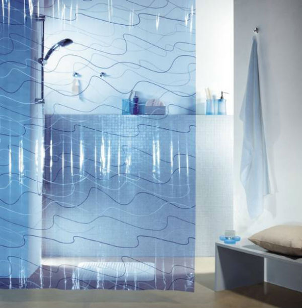 Штора для ванной комнаты – разновидности и 50+ фото