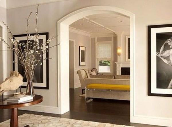 Стильная арка из гипсокартона в интерьере квартиры – 40 фото
