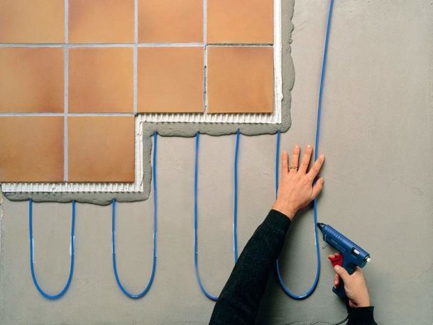 Технология укладки теплого пола под плитку своими руками