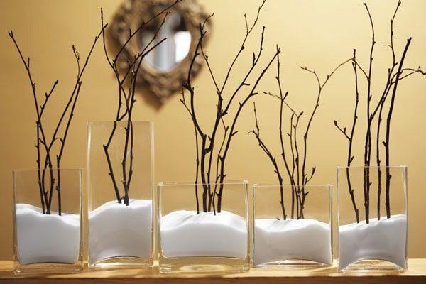Ветки деревьев в интерьере: декорируем квартиру самостоятельно