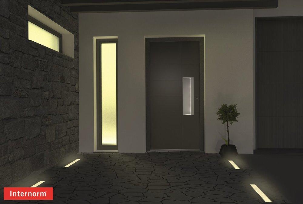 Входные двери со светодиодной подсветкой разработали в Австрии