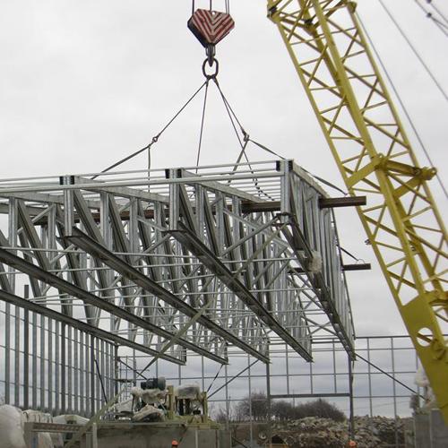 Основные этапы строительства зданий из металлоконструкций от