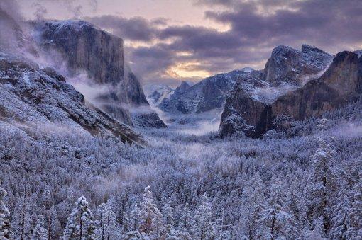 Зимові гори та ліс