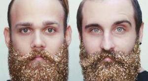 Новий дивний тренд: чоловіки і жінки прикрашають свої бороди блискітками