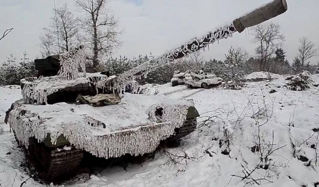 Зимний объезд танками