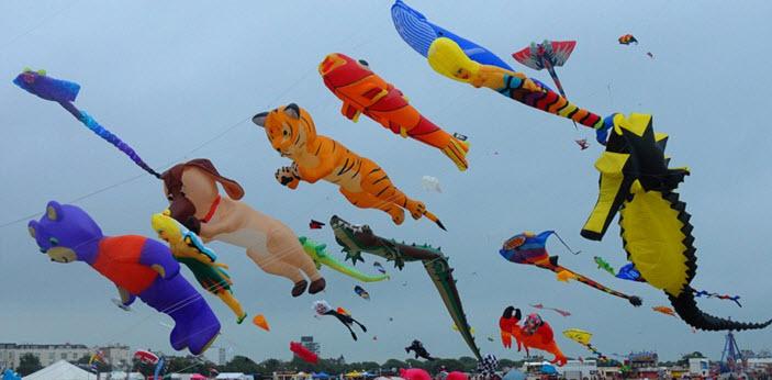 Воздушные змеи атрибуты многих фестивалей