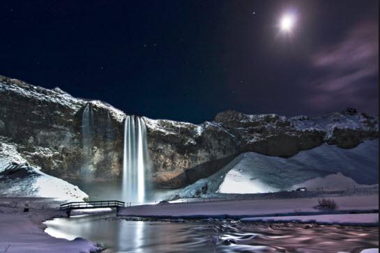 Зимний водопад фото