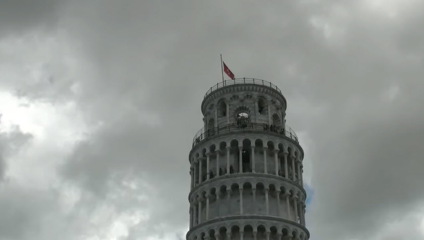 Наклон Пизанской Башни