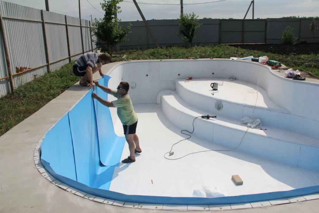 Отделка бассейнов пленкой пвх