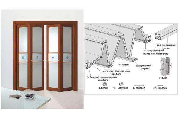 В чем преимущества складной двери