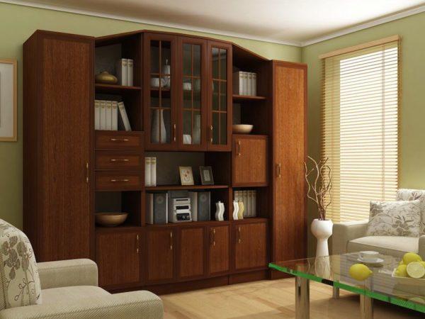 Ореховая мебель в интерьере