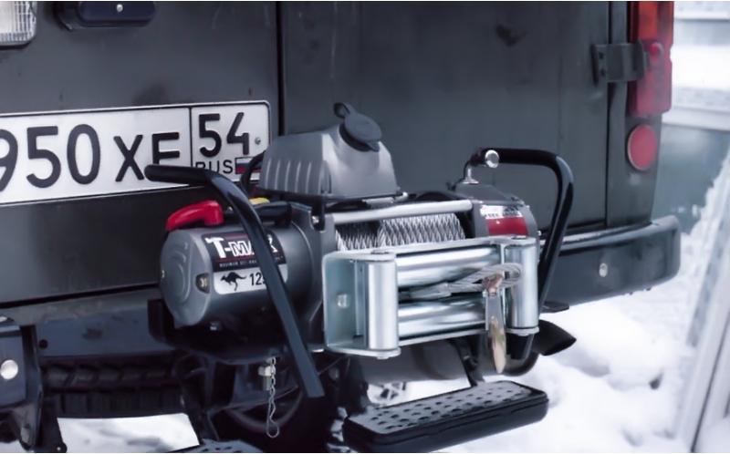 Лебёдка автомобильная механическая