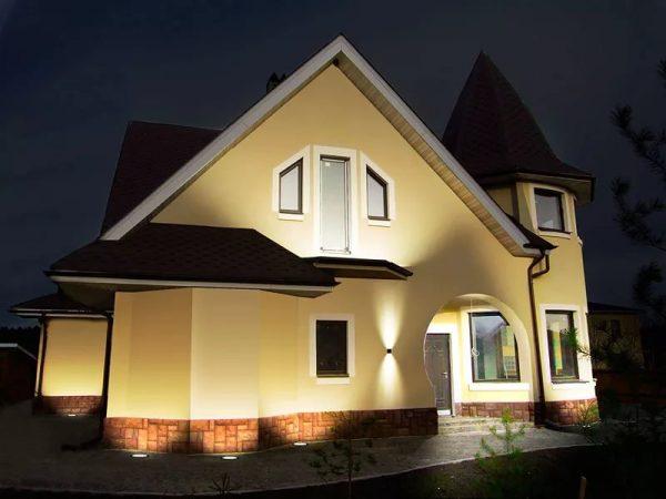 Планировка освещения здания