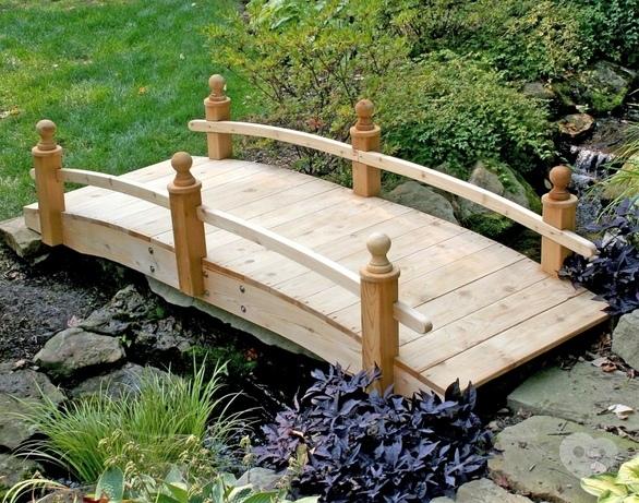 Как сделать самим мостик на даче