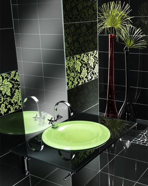 С каким цветом сочетать черный в ванной комнате