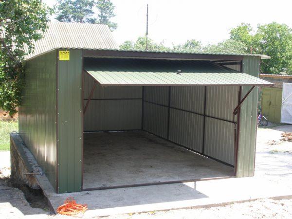 Конструкции стальных гаражей