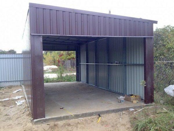 Стальная конструкция для гаража