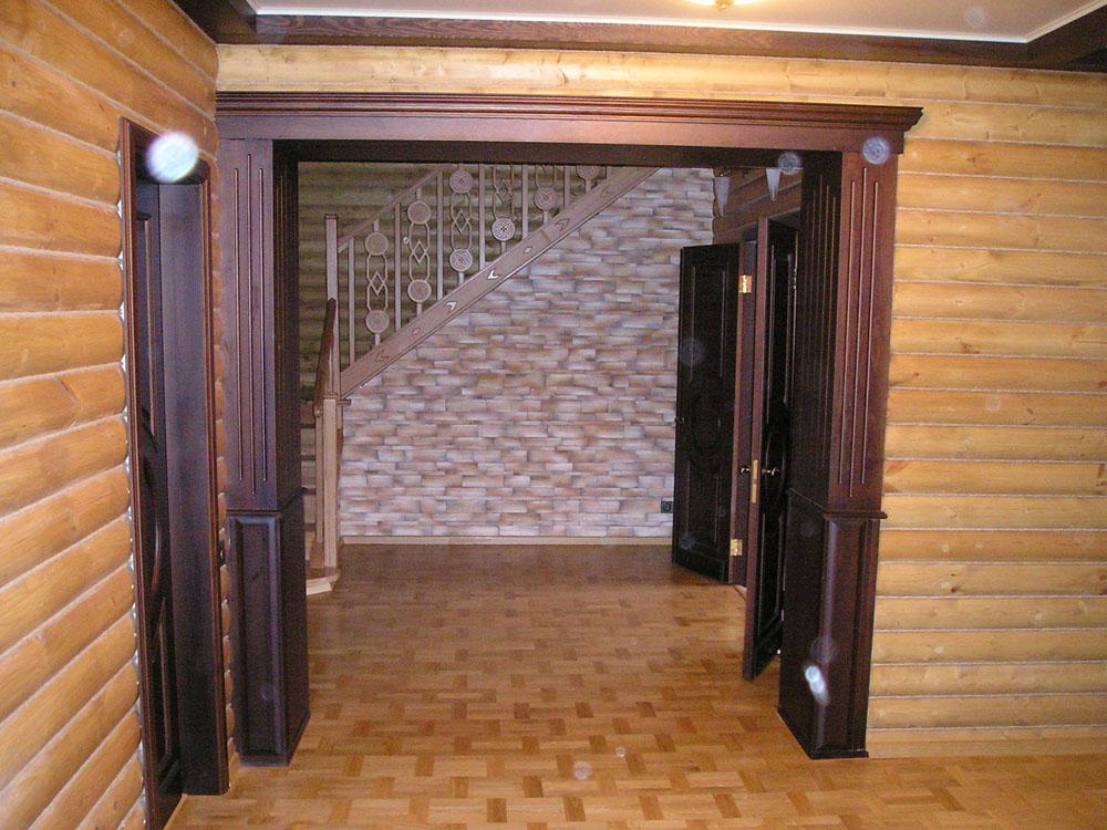 Деревянный дверной проем своими руками 483